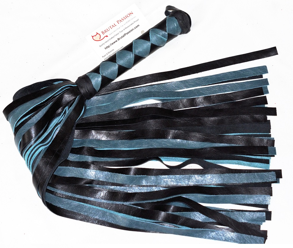 50 Fall Black & Teal Mop Flogger