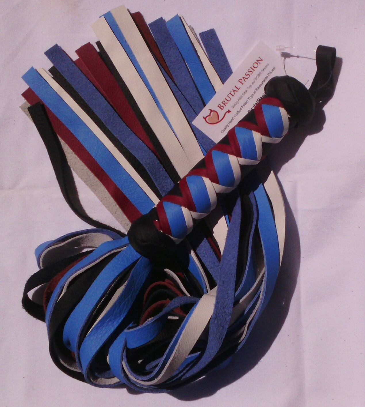 38 Fall Leather Pride Flogger